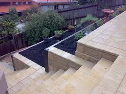 garden walls and steps home outdoor decoration