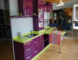 purple and cream kitchen ideas 7358 baytownkitchen stunning purple kitchen ideas with gloss cabinets and green color granite countertop