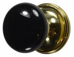 Interior Door Plates Black Porcelain Door Knob Polished Brass Victorian Plate