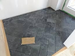 slate herringbone tile flooring fort salonga client bathroom slate herringbone tile flooring