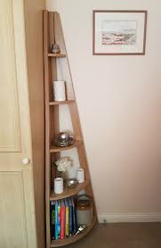 wood corner bookcase quinn contemporary corner ladder style bookcase from matalan