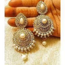 craftsvilla earrings buy lalso designer stylish dangler drop white pearl diamond