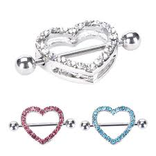 chain nipple rings images Online shop nipple ring heart gem dangle chain nipple shield ring jpg