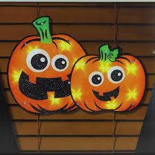 Lighted Halloween Window Decorations Amazon Com Halloween Lighted Pumpkin Window Decoration Home