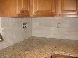 Marble Subway Tile Kitchen Backsplash Warm Kitchen Themed Feat Wooden Kitchen Cabinets Design Feat White