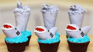 sharknado cupcakes nerdy nummies shark week shark week