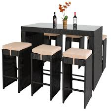 outdoor patio furniture houston best choice products 7pc rattan wicker bar dining table patio