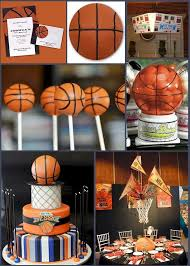 basketball party table decorations basketball favor ideas hoop it up with a basketball themed bar