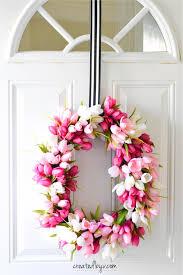 Tulip Wreath Spring Tulip Wreath Created By V