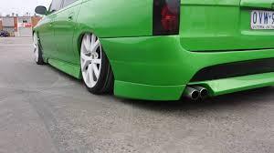 subaru station wagon green holden vt wagon custom bonnet guards green hulk monster gts wheels