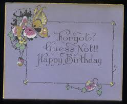vintage recycling antique birthday cards so charming so