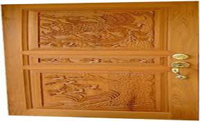 natural wooden single main door carving design interior house use