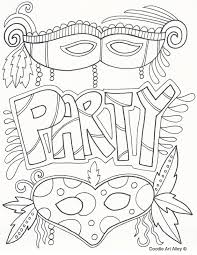 mardi gras coloring pages doodle art alley