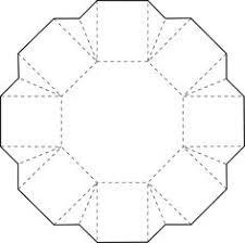 exploding box stencil templates includes plastic hexagon