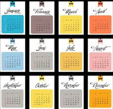 Calendar 2018 Ai Template 2018 Calendar Template Flat Rectangular Section Isolation Free
