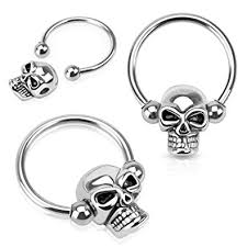 nipple rings pictures images Nipple ring skull bead 316l surgical steel captive jpg