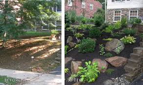 Front Yard Landscaping Without Grass - front yard landscaping before and after landscape design