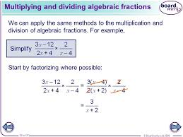 simplifying algebraic fractions ppt video online download