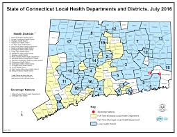 Connecticut Map Usa by Dph Local Health Administration Site Map