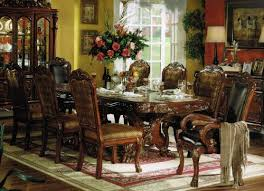 9pc formal dining table u0026 chairs set in brown cherry finish http