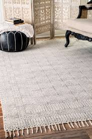 Pottery Barn Trellis Rug by Chembrach14 Flatweave Cotton Sparkling Moroccan Tribal Trellis Rug