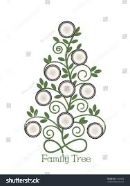 Christmas Tree Picture Frames Family Tree Empty Frames Stock Vector 81358468 Shutterstock