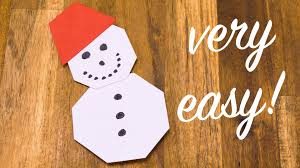 origami snowman folding tutorial easy crafting with paper for