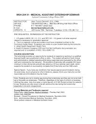 Sample Resume Medical Assistant by Resume For Medical Assistant Student Free Resume Example And