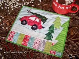 Quilted Mug Rug Pattern Christmas Tree Quilt Designs Quilts Mug Rugs U0026 More