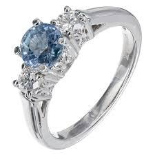 light blue sapphire engagement rings light blue sapphire platinum three