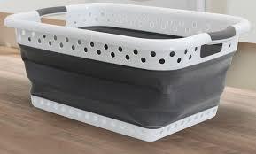 laundry hamper collapsible upc 817386015555 laundry basket u2014white upcitemdb com