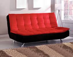 Microfiber Futon Couch Red Couches Red And Black Couches