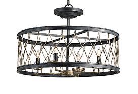 Large Flush Mount Ceiling Light by Distressed Black Flush Ceiling Mount Light The Designer Insider
