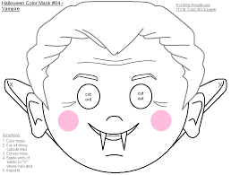 printable halloween masks kids color u2013 fun christmas