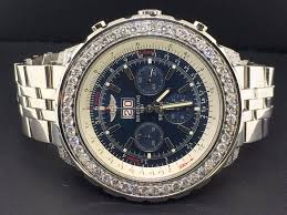 diamond bentley breitling for bentley a44362 steel u0026 custom diamonds automatic