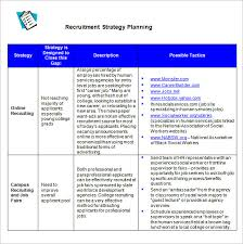 Workforce Planning Template Excel Free Recruiting Plan Template Knowing We Can Do Better A Broad Array