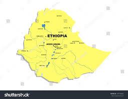Map Of Ethiopia Simple Map Ethiopia Stock Illustration 149196062 Shutterstock