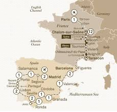 Tgv Map France by Spectacular South Of France With Iberian Splendours Scenic