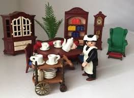 playmobil 5320 victorian mansion dining room library set not a