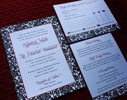 Black Card Invitation Red U0026 Black Floral Vine Pattern Wedding Invitations And Stationery
