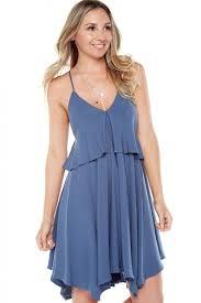 bb dakota by bb dakota auda cornflower blue dress twill dress