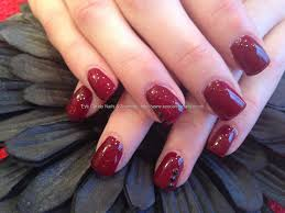 eye candy nails u0026 training acrylic nails with ruby red gelux gel