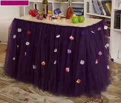 tulle tutu table skirt petals tableware wedding party birthday
