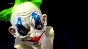 it clown halloween mask wide eyed killer clown latex halloween mask on a minions head