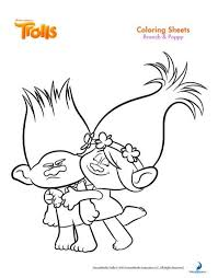 free trolls coloring pages u2013 free party printables
