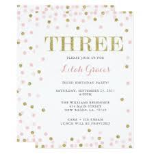 3rd birthday party invitations u0026 announcements zazzle com au