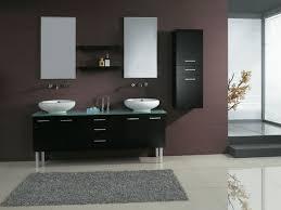 72 Inch Bath Rug Large L Sshape Brown Wooden Vanity Using Brown Granite Countertop