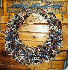turkey feather wreath turkey feather wreath large changer taxidermy llc