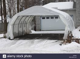 double car garage white temporary double car garage stock photo royalty free image