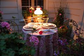 Romantic Table Settings Romantic Table For Two On The Deck